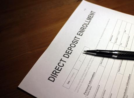 Direct deposit signup for workers